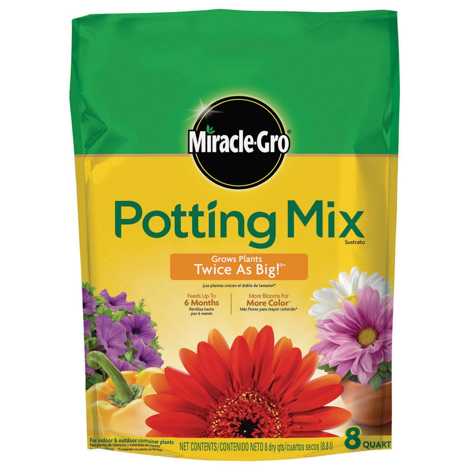Miracle-Gro Potting Mix, 8 Quart