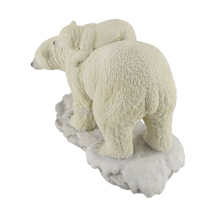 Polar Bear Mother With Adorable Freeloading Cub Statue - image 2 de 4
