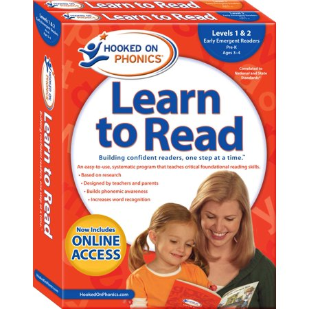 Hooked on Phonics Learn to Read - Levels 1&2 Complete : Early Emergent Readers (Pre-K | Ages 3-4) (Hooked On Phonics Readers)