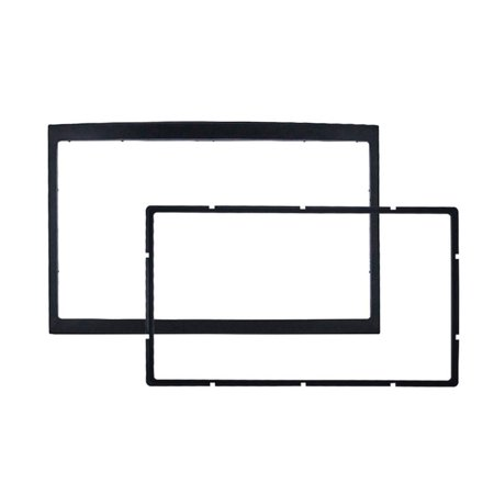 CD Double DIN Car Auto Trim Trace Stereo Radio Kit Fascia Adapter Panel Panel Mount Plate for peugeot 307 - image 1 of 7