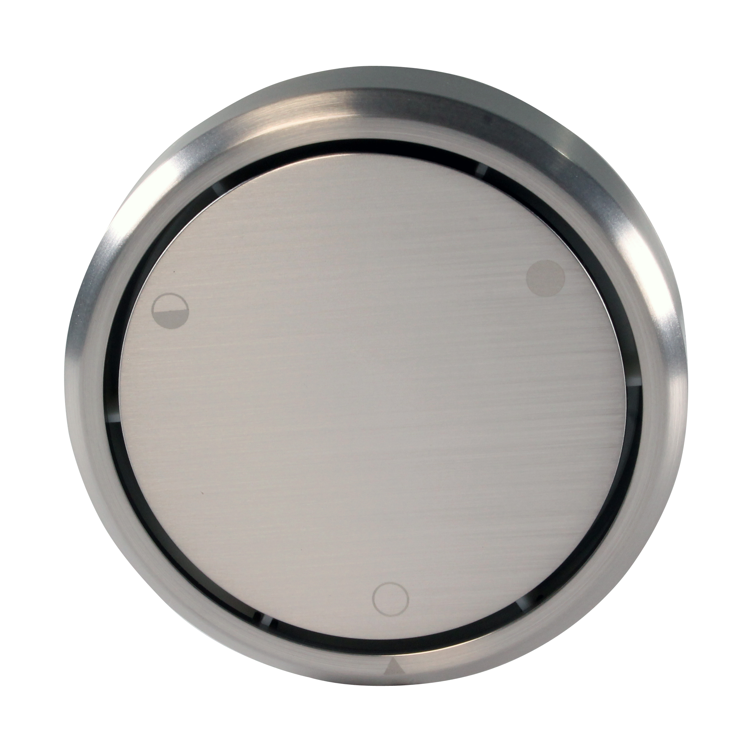 Westbrass Round Replacement, Full or Partial Closing Metal Overflow D493CHM in Satin Nickel