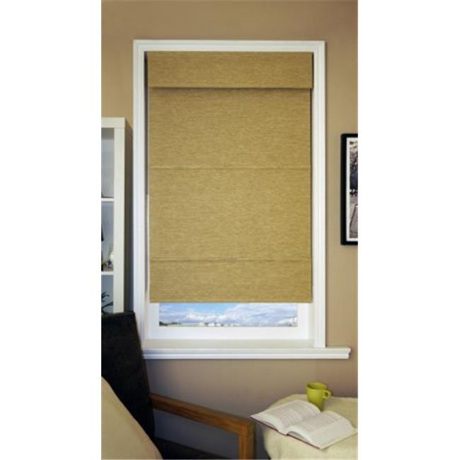 """Chicology Cordless Magnetic Roman Shade  Natural Woven Fabric  Jamaican Antique Gold  39""""x64"""" - image 1 of 1"""