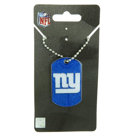 New York NY Giants NFL Football Glitter Dog Tag Necklace](Military Dog Tags For Sale)