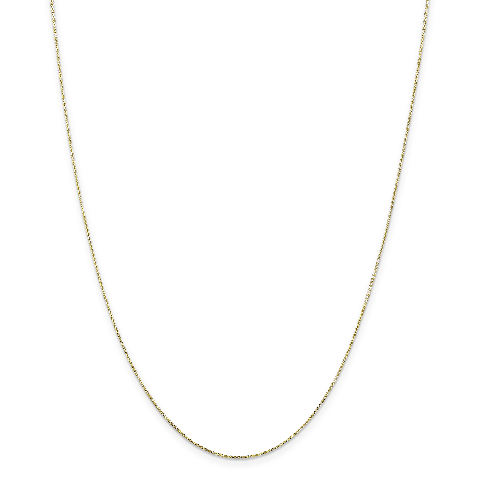 10K Yellow Gold .80mm Diamond Cut Cable Chain 20 Inch - image 5 of 5