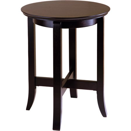 Toby Round End Table  Espresso