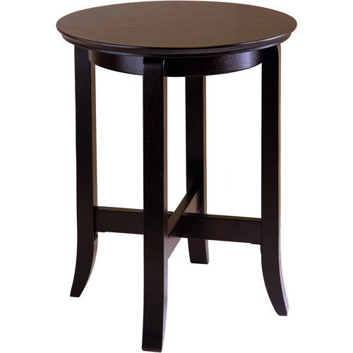 Toby Round End Table, Espresso