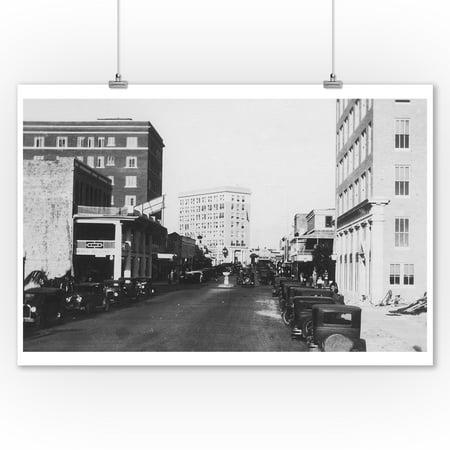 Sarasota, Florida - City Pier View of Main Street (9x12 Art Print, Wall Decor Travel Poster)](Halloween City Sarasota)