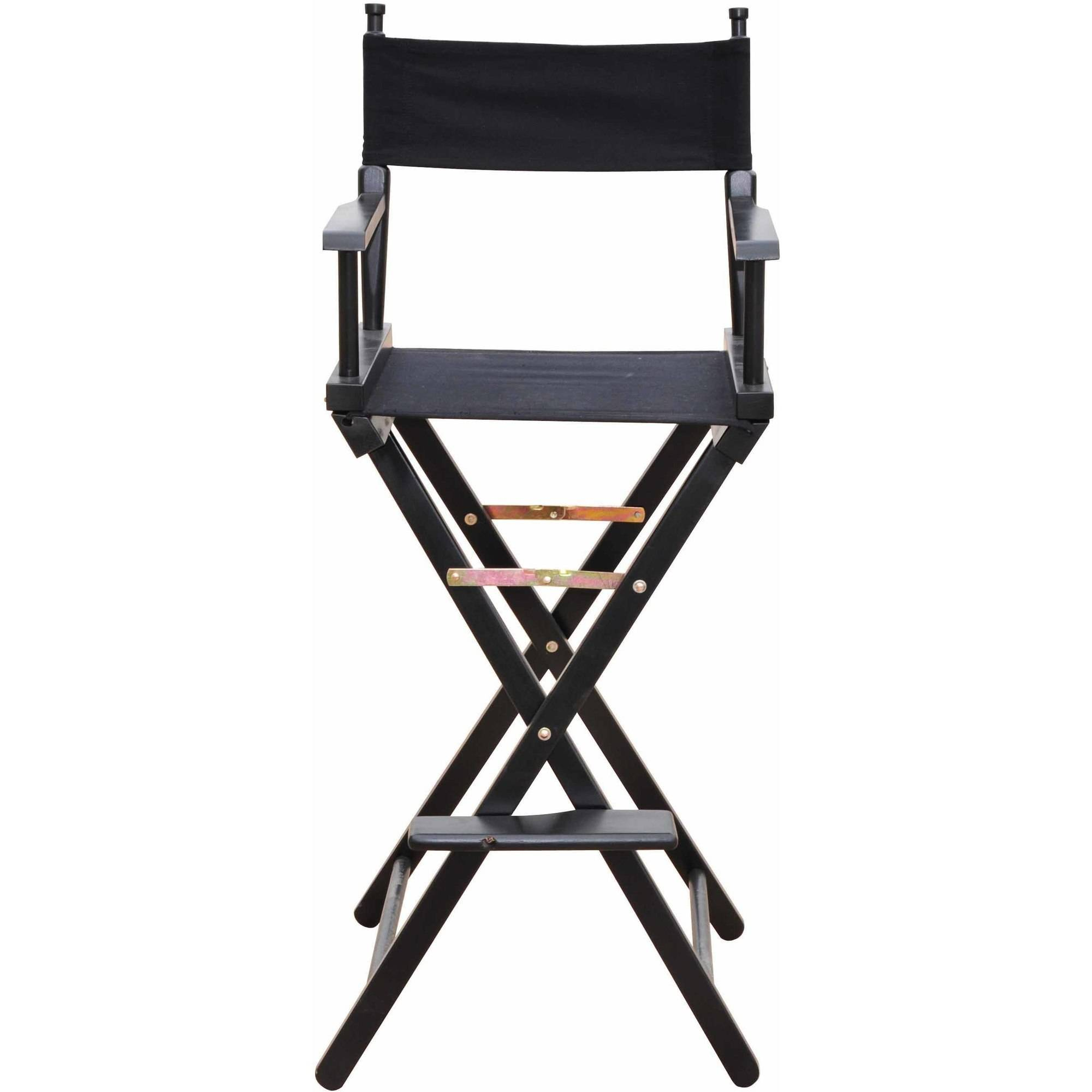 "Trademark Innovations 30"" Bar Height Director's Chair, Black Wood"