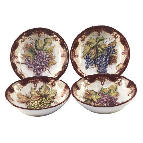 Fleur De Lis Living 4 Piece Burks Pasta Bowl Set (Set of 4) by