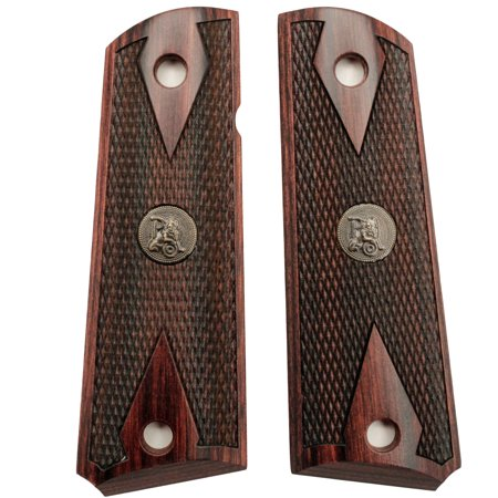 - Pachmayr Colt 1911 Grip Double Diamond, Rosewood