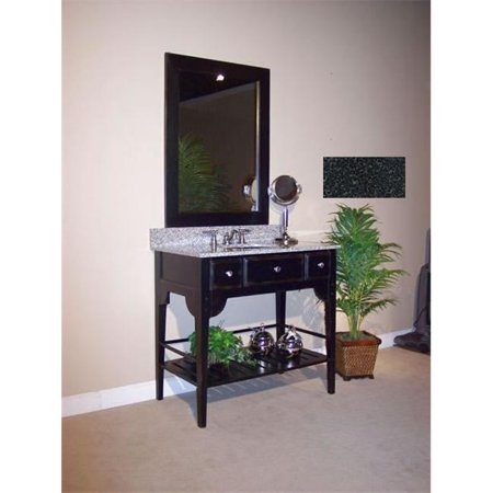 Kaco International 340-2400-B-AB Dover 24 in. Vanity with Distressed Black Sherwin Williams  Finish and Black Granite Top