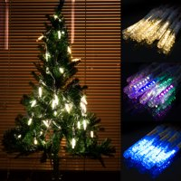 LUXMO Rain Drop Lights, LED Meteor Shower Lights 10 Tubes 120 Leds, Icicle Snow Falling Lights for Xmas Halloween Party Holiday Garden Tree Christmas Thanksgiving Decoration Outdoor