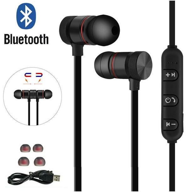 Magnetic Wireless Bluetooth V4 1 Headset Stereo Headphone Sport Earphone Earbud For Iphone 11 11 Pro Samsung Lg Walmart Com Walmart Com