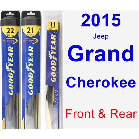 2015 Jeep Grand Cherokee Wiper Blade Set/Kit (Front & Rear) (3 Blades) - Rear
