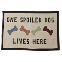 Pet Rageous One Spoiled Dog Tapestry Mat Feeder, Large/28' x 18'