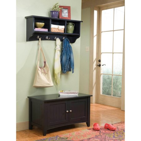 Excellent Alaterre Shaker Cottage Storage Bench And Coat Rack Set Pabps2019 Chair Design Images Pabps2019Com
