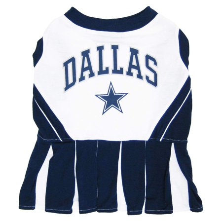 Dallas Cowboys Pet Cheerleader Uniform Extra Small, 100-Percent Cotton screen printed team cheerleader outfit By Pets First (Dallas Cowboys Cheerleaders Uniforms)