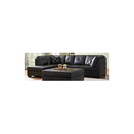 Darie armless sectional sofa w left side chaise walmartcom for Darie leather sectional sofa with left side chaise