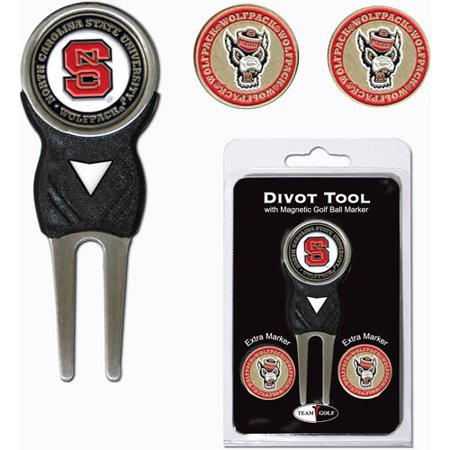 North Carolina Divot Tool - Team Golf NCAA North Carolina State Divot Tool Pack With 3 Golf Ball Markers