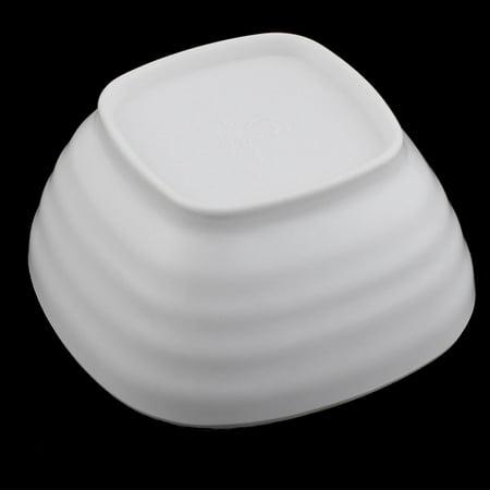 Emile Henry Non Stick Bowls (Home Restaurant Square Non-slip Plastic Snack Party Serving Soup Bowls White)