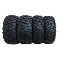 Set of 4 New Radial ATV/UTV Tires WANDA 25x8R12 Front & 25x10R12 Rear /6PR P350 - 10177/10178