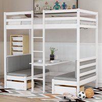 Deals on Euroco Adjustable Solid Wood Twin Over Twin Bunk Bed