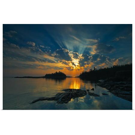 Ontario Marine - Great BIG Canvas | Rolled Mike Grandmailson Poster Print entitled Sunrise On Georgian Bay, Fathom Five National Marine Park, Ontario, Canada