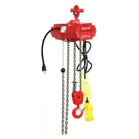 - Dayton Electric Chain Hoist, Red, 4GU71