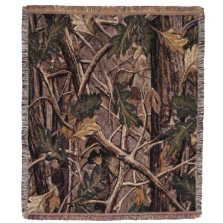 "Camping Hunting Nature's Camouflage Decorative Afghan Throw Blanket 50"" x 60"