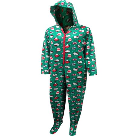 Hello Kitty Christmas Footie Hooded Plus Size Onesie Pajama - Plus Size Onsie