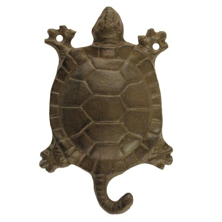 Cast Iron Wall Mount Deep Sea Turtle Key Holder Hook Coat Hat Rack Leash Hanger
