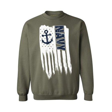 Awkward Styles American Flag Navy Crewneck Love USA Pro America Navy Men Women Sweatshirt US Navy Gifts Vintage USA Navy Sweater for Men I'm American Vintage USA Navy Sweater for Women