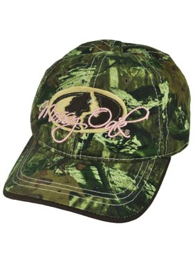 Mossy Oak Felt Logo Women Ladies Hunting Brand Camouflage Camo  Hat Cap