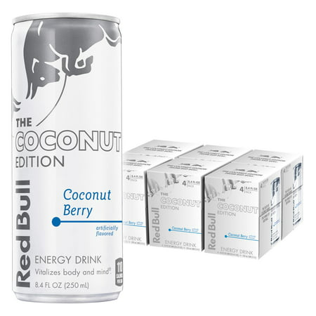 (24 Cans) Red Bull Energy Drink, Coconut Berry, 8.4 Fl Oz, Coconut Edition (6 Packs of