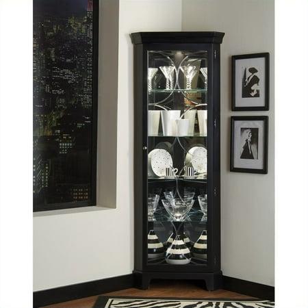Oxford Curio (Pulaski Oxford Black Corner Curio Cabinet )