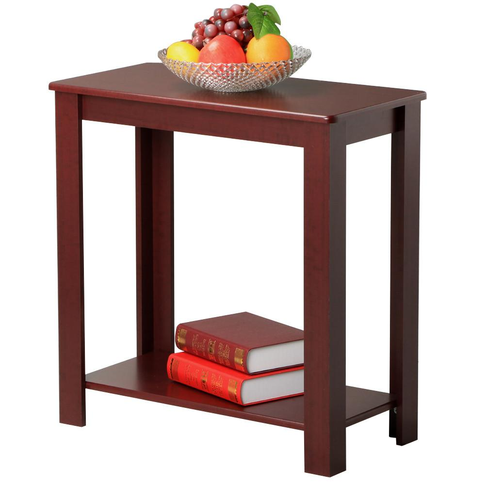 Yaheetech Espresso Chair Side Table Coffee Sofa Wooden End Shelf Living Room Furnit