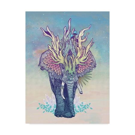 Trademark Fine Art Spirit Elephant Canvas By Mat Miller