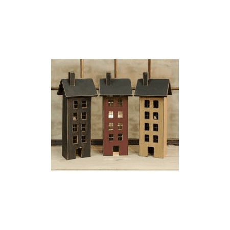 Assorted Primitive Saltbox Houses - Set of