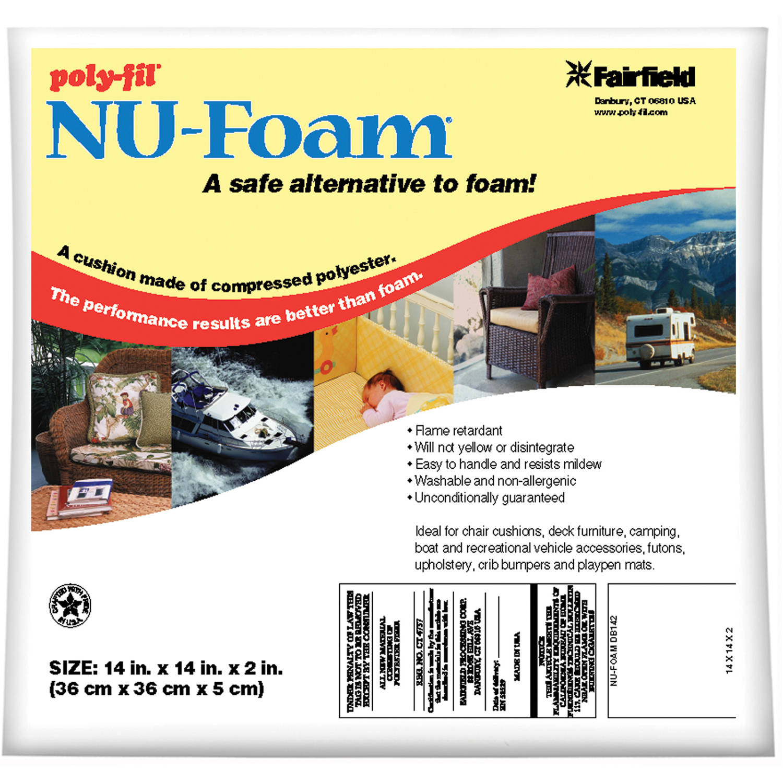 """Poly-Fil Nu-Foam Pre-Cut, 14"""" x 14"""" x 2"""