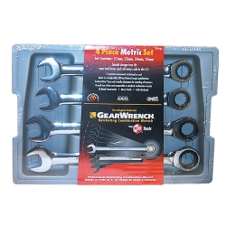 Ratching Comb Wrench Set 4 Piece 21-25MM