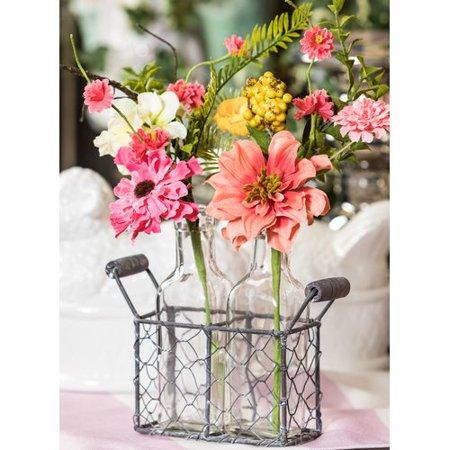 August Grove Spring Flower and Berry Floral Arrangement in Bottles - Cheap Flower Arrangements