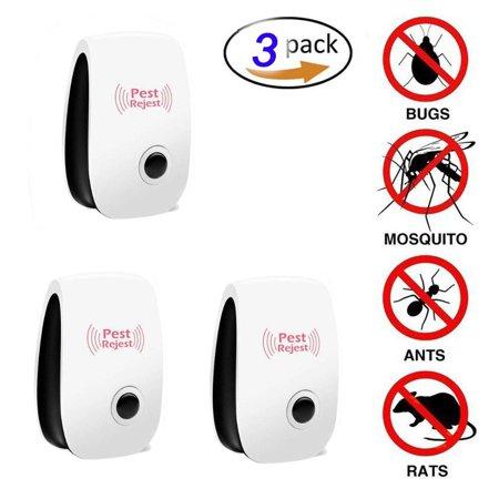 Magnetic Bug (3 pcs Pest Repeller Non-toxic& Environment-friendly Ultrasonic Pest Reject Electronic Magnetic Ultrasonic Pest Control Anti Mosquito Insect Killer)