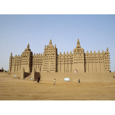 Great Mosque, the Largest Dried Earth Building in the World, Djenne, Mali Print Wall Art By Pate