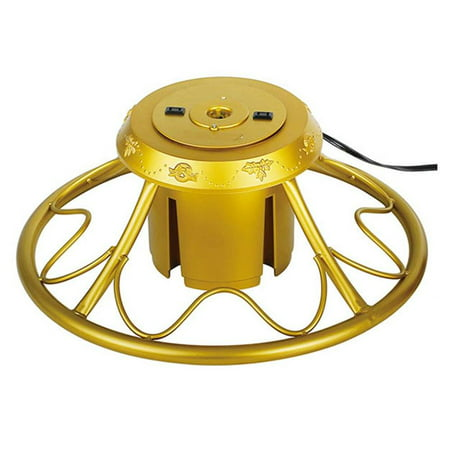 Home Heritage Golden Rotating Christmas Tree Stand for ...