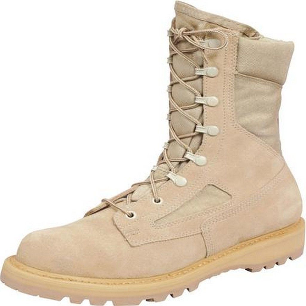 Rocky Tactical Boots Mens US Army Welt Cordura 8 ME Desert Tan R6008