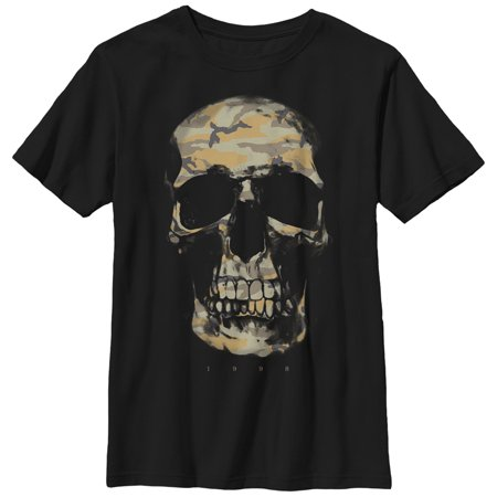 Camouflage Print T-shirt (Boys' Camouflage Print Skull T-Shirt )