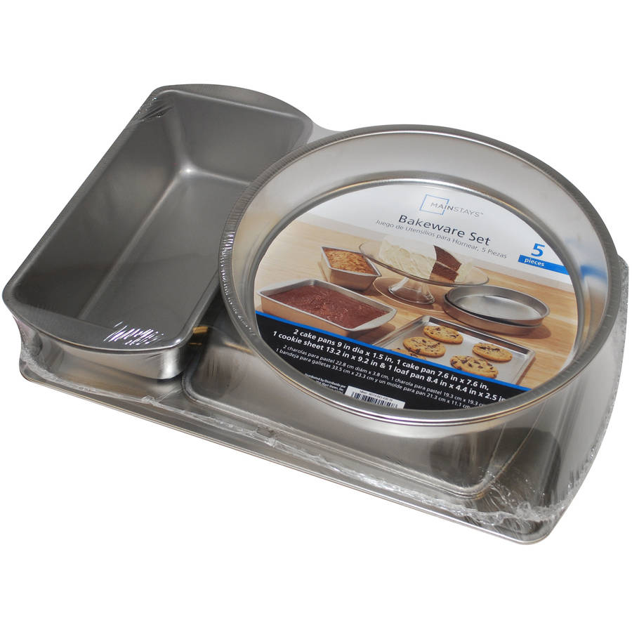 G & S Metal Products Co., Inc. Mainstays Ms Uncoated 5 - Piece Bakeware Set