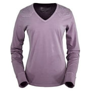Outback Trading Shirt Womens Long Sleeve Tulle Tee Embroidery 40006