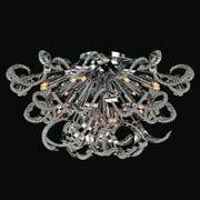 "Worldwide Lighting W33112c26 Medusa 19 Light 26"" Flush Mount Ceiling Fixture In - Chrome"