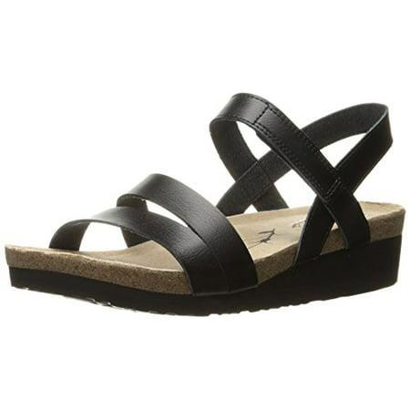 Skechers Women's Troos Simply Effortless Wedge Sandal, Black